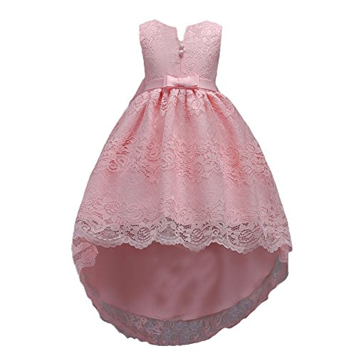 Big Girl Dress Holiday Graduation Christmas Halloween Special Occasion Tops Girl Dresses Size 10 for Wedding Floor Length 12 Y Blush Girls Bridesmaid Dress Long Tail (6-7 Years Pink 140)