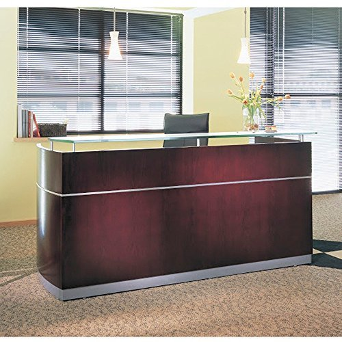 Mayline Napoli 87'' W Office Reception Desk for Offices, Salons, Waiting Rooms
