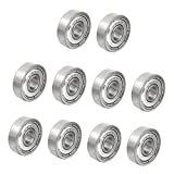 MagiDeal Pack of 10pcs High Quality Radial Ball Bearings 3D Printer Part Mini Bearing - Silver, 625zz