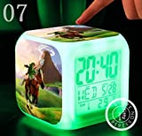 The Legend of Zelda Action Figure Cartoon 7 Colors Change Digital Alarm LED Clock Cartoon Night Colorful Toys for Kids (Style 7)
