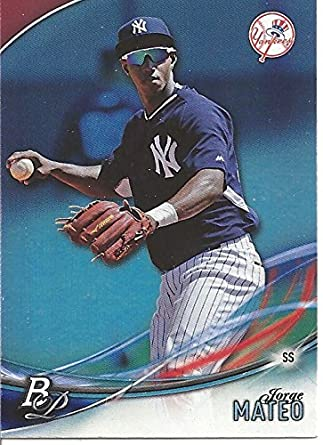 Jorge Mateo Top Prospect Baseball Card 2016 Bowman