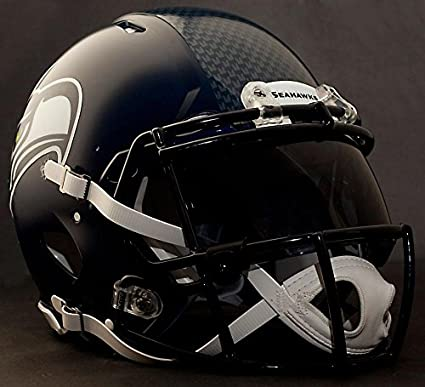 de2c8ffa1 Image Unavailable. Image not available for. Color  Riddell Speed Seattle  Seahawks NFL Authentic Football Helmet with Dark-Tint Eye Shield Visor