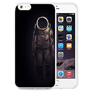 Unique and Attractive TPU Cell Phone Case Design with Ghostly Astronaut Illustration iPhone 6 plus 4.7 inch Wallpaper in White