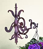 Iron Gothic Scroll Hanging Bracket | Wall Mounted Hook Hanger Outdoor
