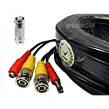 Wennow 4 PACK PREMIUM 100Ft. BNC EXTENSION CABLES FOR Night Owl SYSTEMS black color