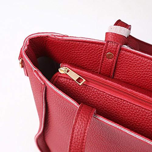 Pcs Quatre Messenger À Sacs Mode Sac Chambre Sauvage Pièces Femelle Fashional 4 Enfant Femm Rouge Grande Main Capacité Handbage Simple Set Pour Les FZA0dq