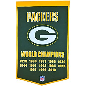 Amazon.com   Winning Streak NFL Green Bay Packers Dynasty Banner ... c2673083e