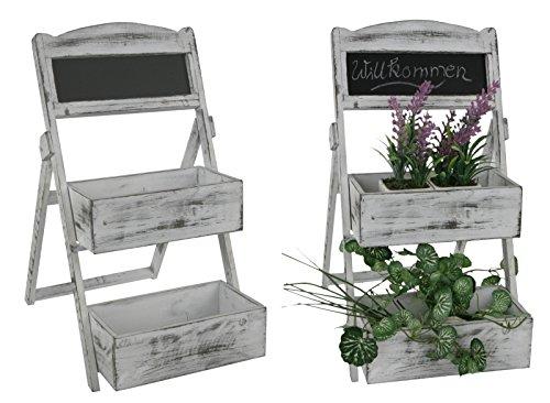 Geschenktrends Small Shelf for Kitchen with Slate–Regal Plants, Ladder, Herbs Regal, Herbs Pot