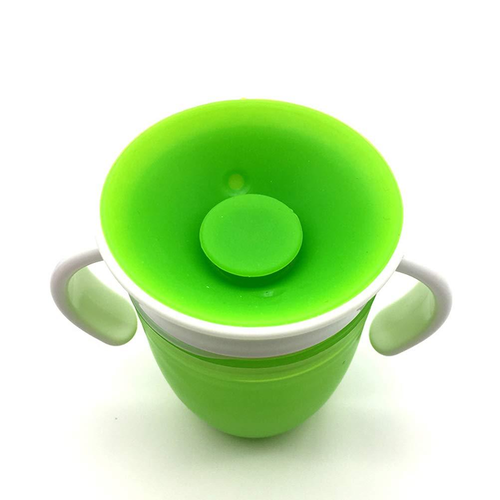 WINBST Vaso de Beber Magic Cup 360 /° Borde de Beber a Prueba de Fugas Sellado Vaso de Disco de Silicona