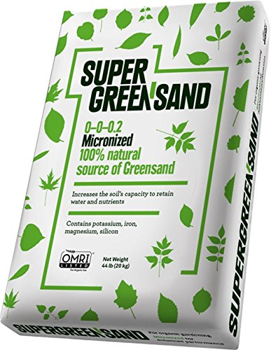 Super Greensand Micronized, 68 Minerals and Trace Elements including 10% total potash, 44lb bag