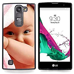 - Cute Baby Girl/ Hard Snap On Cell Phone Case Cover - Cao - For LG Volt 2 / LG G4 Mini (G4c)