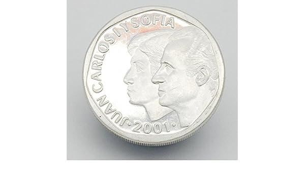 Desconocido Moneda de 500 Pesetas del 2001. Moneda de Plata. Moneda Coleccionista. Moneda de 500 Pesetas Juan Carlos I y Sofia: Amazon.es: Juguetes y juegos