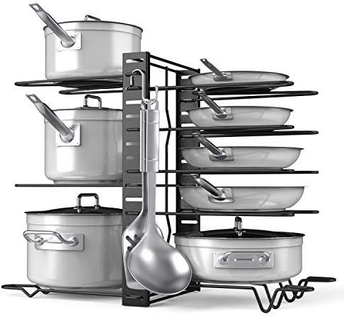Pot Rack Organizer-Adjustable 8+ Pots an