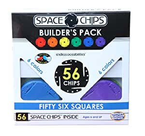 Monkey Business Sports Space Chips Builder Pack - Square (56 Pieces)