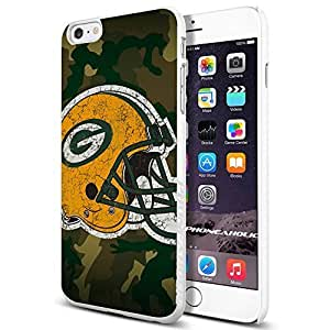 NFL Green Bay Packers Helmet Logo, Cool iPhone 6 Plus (6+ , 5.5 Inch) Smartphone Case Cover Collector iphone TPU Rubber Case White hjbrhga1544