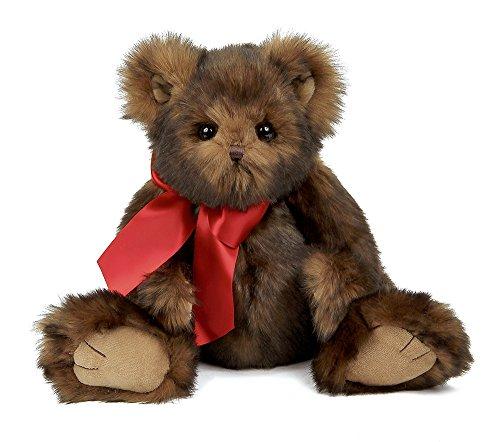 Bearington Baby Heartford Plush Stuffed Animal Teddy Bear, Brown 11