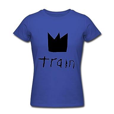 Amazon.com: TY train crown logo T Shirt For Women Royal blue: Clothing