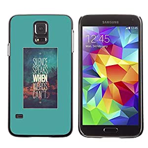 Plastic Shell Protective Case Cover || Samsung Galaxy S5 SM-G900 || Words Text Motivational @XPTECH