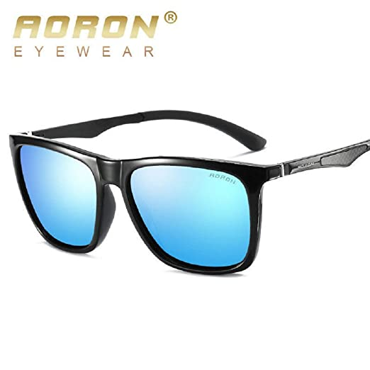 0394f5f2f1 Fashion Men s Aluminium Polarized Colored Sunglasses Driving Glasse Outdoor  Fishing Eye (Black Blue)