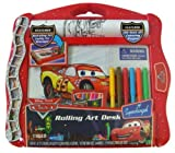 : Disney Pixar CARS rolling art desk with swiveling art caddy for storage
