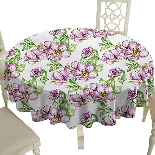 duommhome Floral Oil-Proof Tablecloth Retro Sun Figure with Grunge Effects Universe Spiritual Art Design Easy Care D67 Lime Green Vermilion -