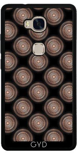 Funda de silicona para Huawei Honor 5X - Subió El Modelo De Puntos Negro De Oro by Nina Baydur