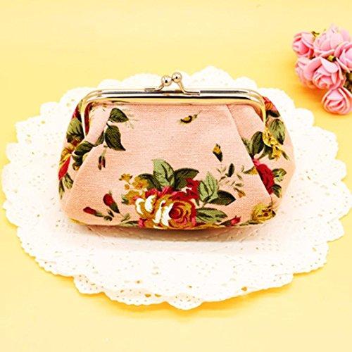 Piccola Serratura Venmo blu Della Fiore Vintage Rosa Pochette Borsa Retro Donne wqCRxB8wp