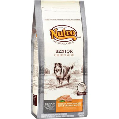 Nutro NATURAL CHOICE Senior Chicken, Whole Brown Rice and Oatmeal Dry Dog Food, 5 lbs.