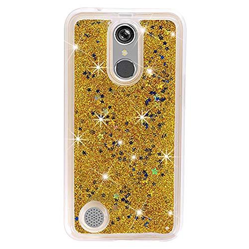 Cell Floating (Urberry LG K20 Plus Case, LG K20 V Case, Floating Bling Glitter Sparkle Case for LG K20 Plus/LG K20 V (Gold))