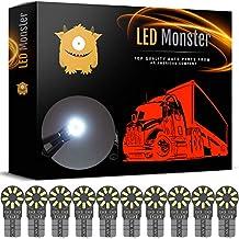LED Monster 10-Pack White 18SMD LED Bulbs 194 168 T10 2825 Car Interior Light Dome Map License Plate Lights Lamp