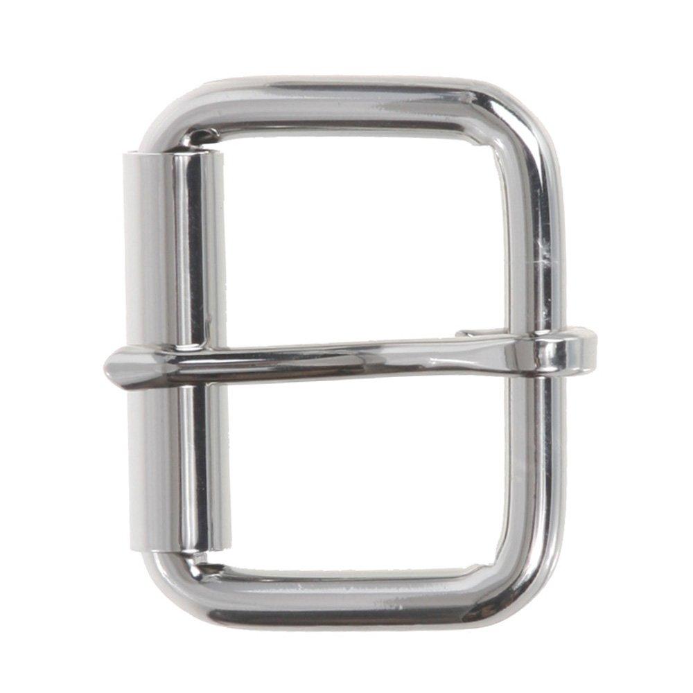 38 mm Brass 1 1//2 Nickel Free Single Prong Roller Belt Buckle