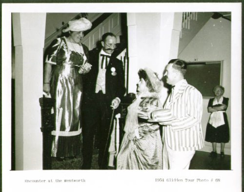 Costumed couples at Wentworth 4x5 Glidden Tour 1954 #68