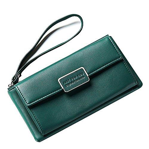 Dames Sac Phone D'embrayage Mobile Main Et Nouveau Simple Mode Pinces Portefeuille capacité Portefeuilles Bag Green À Multi Yqxr gI0ZqPw