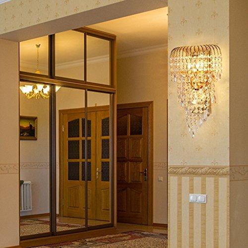 MOMO Luxury K9 Crystal Wall Lamp Led Gold Living Room Bedroom Bedside Dining Room Wall Lamp European Lighting by MOMO (Image #2)