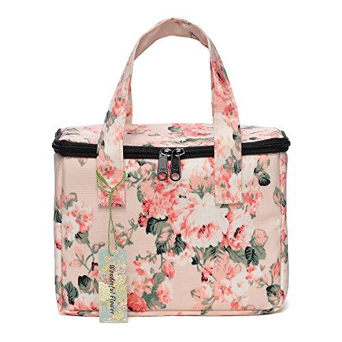 WONDERFUL FLOWER Lunch Box Cooler Bag lunch bag flower (19 Light Pink)