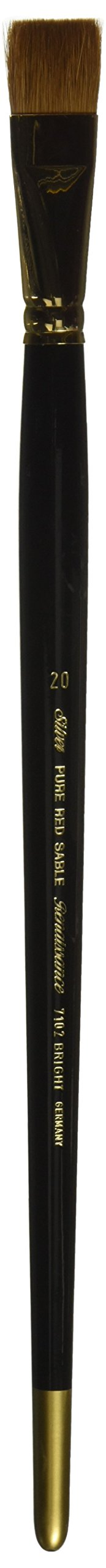 Silver Brush 7102-20 Renaissance Pure Red Sable Long Handle Premium Quality Brush, Bright, Size 20 by Silver Brush Limited