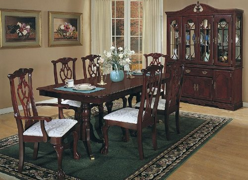 7pc Cherry Formal Dining Table Set