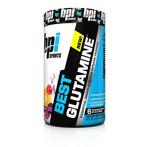 BPI Sports Best Glutamine Berry Citrus 14.1 Ounce and Equilibrium Probiotic Bundle of 1 Each