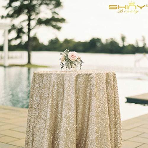 Speakeasy Decor - 50''x50'' Square Matte Gold Sequin Tablecloth