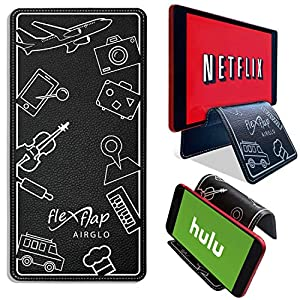 Airplane Travel Essentials for Flying Flex Flap Cell Phone Holder & Flexible Tablet Stand for Desk, Bed, Treadmill, Home…