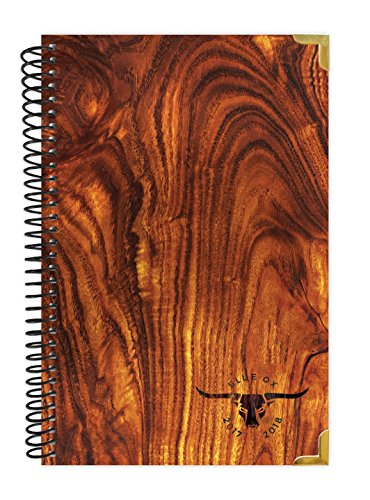 """Blue Ox Day Planner 2017-18 Academic Year + HARD COVER + Daily Planner - Passion/Goal Organizer - Monthly Datebook and Calendar - August 2017 - July 2018 - 6"""" x 8.25"""" - Light Woodgrain Pattern"""