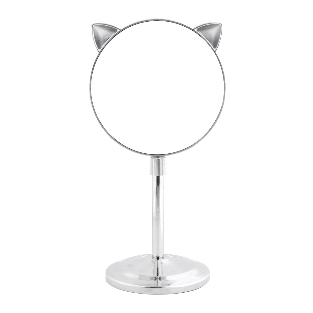 Danielle 5X Magnification Cat Ear Vanity Mirror with Extendable Stem, Chrome Upper Canada Soap D6529