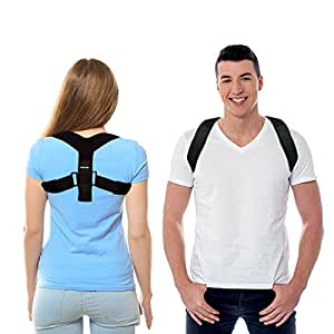 "Posture Corrector for Women and Men by CAMP BEN | Clavicle Brace and Kyphosis Shoulder Trainer Harness for Hunchback | Back Support Figure 8 Correctors (Medium Size 28-35"")"