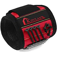 Kitclan Magnet Wristband with 5 Powerful Magnets (Red)