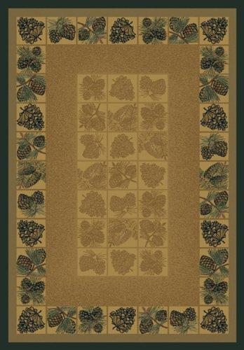 United Weavers Genesis Pinecones Natural Rug 1'11 x 7'4