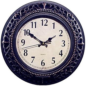 Foxtop 12 Inch Silent Decorative Wall Clocks Vintage Retro Antique Royal Style Clock