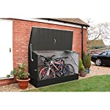 Bosmere Trimetals A303 Bicycle Storage Unit, 77'' x 35'' x 52'', Anthracite