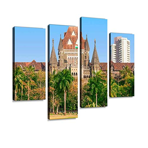 Bombay High Court Canvas Wall Art Hanging Paintings Modern Artwork Abstract Picture Prints Home Decoration Gift Unique Designed Framed 4 Panel