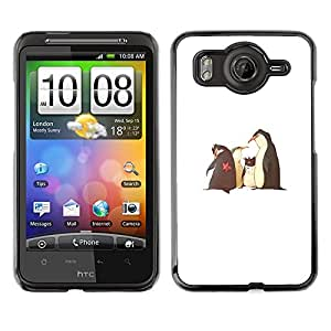 Shell-Star Art & Design plastique dur Coque de protection rigide pour Cas Case pour HTC Desire HD / G10 / inspire 4G( Funny Movie Penguins White Kids )