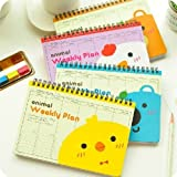 Package Included ONE Planner 150 Pages of Weekly Plan (2 Pages For 1 Week Use) Size: 13cm x18.5cm Smooth Writing, 180 Degree Spread Out Quality Production, Eco-Friendly Ink, Good For Eyes 5 Colors Available: Orange, Blue, Yellow, Purple and Panda Ple...